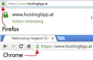 HTTPS im Browser erkennen